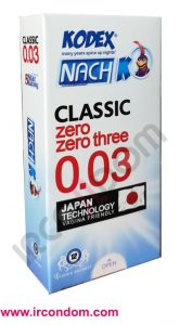 کاندوم فوق نازک ناچ کدکس مدل zero zero three